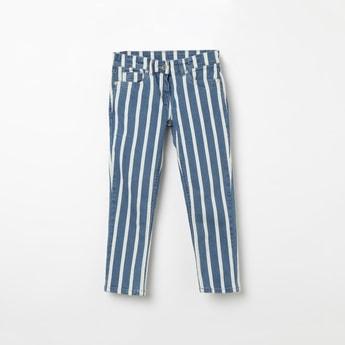BOSSINI Striped Slim Fit Jeans