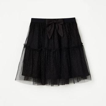 FAME FOREVER KIDS Glittered Tulle Layered Skirt