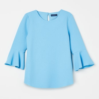FAME FOREVER KIDS Textured Bell Sleeves Top