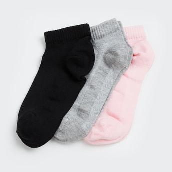 GINGER Women Textured Ankle Socks - Pack of 3