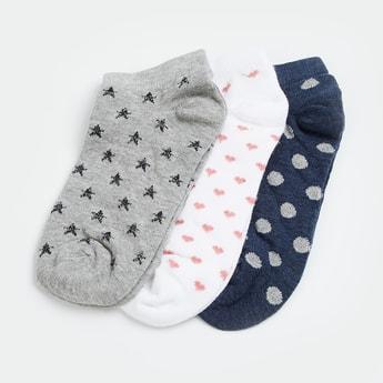 GINGER Patterned Knit Ankle Socks - Pack of 3