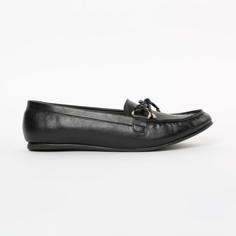 INC.5 Textured Loafers with Mock Tie-Up