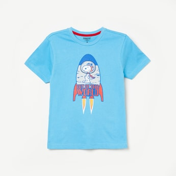 FAME FOREVER KIDS Graphic Print Crew-Neck T-shirt