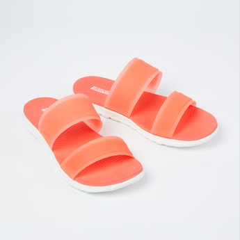 SKECHERS Textured Sandals with Midfoot Strap