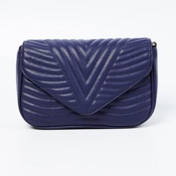 CODE Textured Sling Bag with Flap