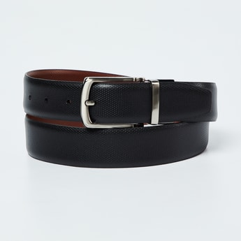 CODE Genuine Leather Reversible Textured Belt