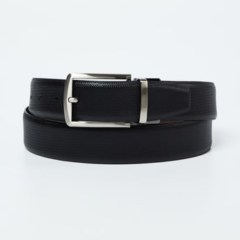 CODE Genuine Leather Textured Reversible Belt