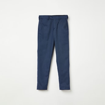 FAME FOREVER YOUNG Textured Trousers with Button Closure