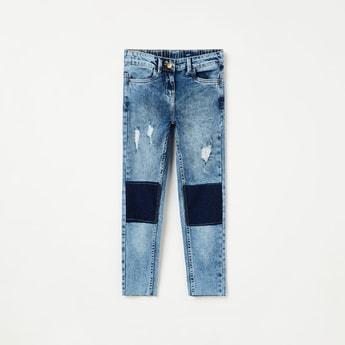 FAME FOREVER KIDS Distressed Panelled Slim Fit Jeans