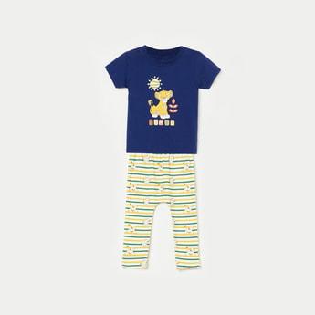 FS MINI KLUB Printed T-shirt with Pyjamas