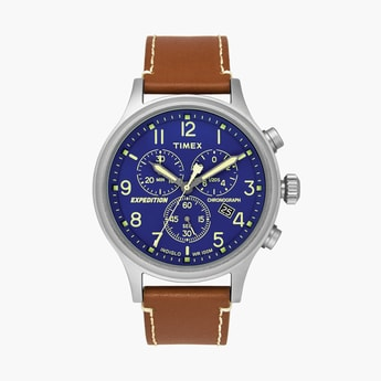 TIMEX Men Analog Watch with Leather Strap - TWEG18201