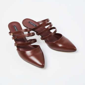 ALLEN SOLLY Solid Pointed Heels