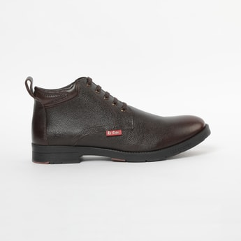 LEE COOPER Genuine Leather Lace-Up Boots