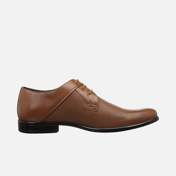 LEE COOPER Men Genuine Leather Perforated Derby Shoes