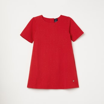 ALLEN SOLLY Solid Shift Dress