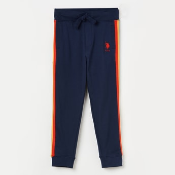 U.S. POLO ASSN. KIDS Solid Tape Detail Joggers