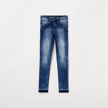 PEPE JEANS Embellished Mid-Washed Jeans