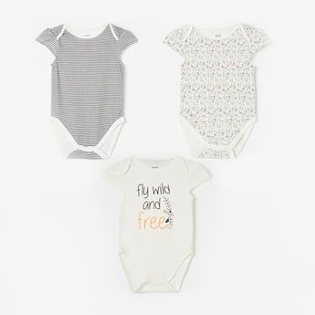 FS MINI KLUB Cutaway Sleeves Printed Sleepsuit - Pack of 3 Pcs.