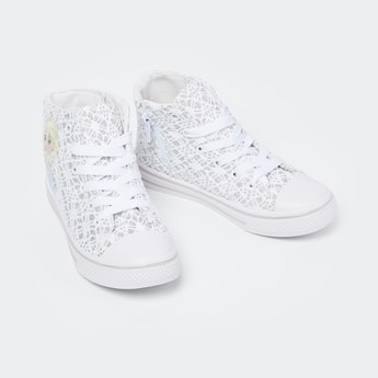 FAME FOREVER Lace Overlay High-Top Sneakers