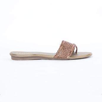 RAW HIDE Braided Flat Sandals