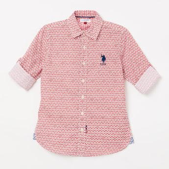 U.S. POLO ASSN. KIDS Printed Full Sleeves Shirt