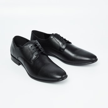 RED TAPE Genuine Leather Perforated Derby Shoes