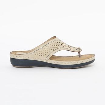 CATWALK Laser-Cut Embellished Sandals
