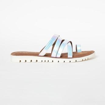 CATWALK Toe-Ring Strappy Falt Sandals
