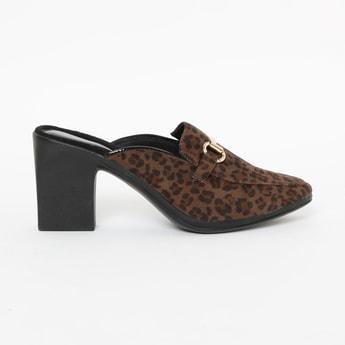 CATWALK Animal Print Mules with Block Heels