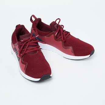 FILA Panelled Sports Shoes with Mesh Upper