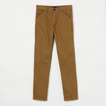 INDIAN TERRAIN Panelled Slim Fit Chinos