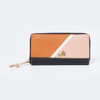 BAGGIT Colourblocked Zip-Around Wallet with Sling