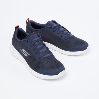 SKECHERS GoWalk Max Textured Lace-Up Walking Shoes