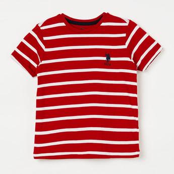 U.S. POLO ASSN. KIDS Upturned Hems Striped T-shirt