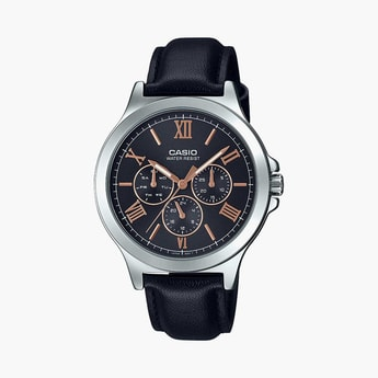 CASIO Men Multifunction Watch with Leather Strap - A1687