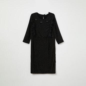 BOSSINI Textured Full Sleeves Dress