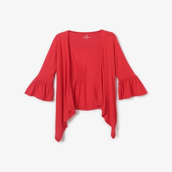 FAME FOREVER KIDS Solid Waterfall Shrug