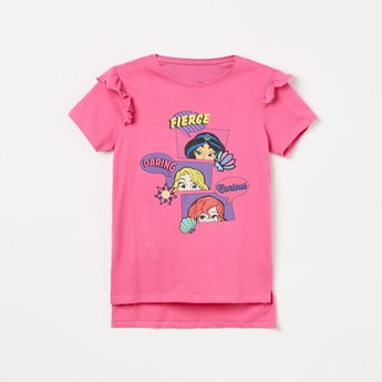 FAME FOREVER KIDS Disney Print High-Low Top