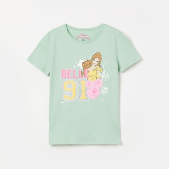 FAME FOREVER KIDS Disney Princess Print Round Neck Top