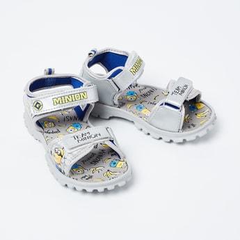 BIOWORLD Minion Print Velcro Strap Sandals
