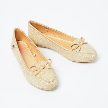BIOWORLD Glittered Bow Detailed Loafers