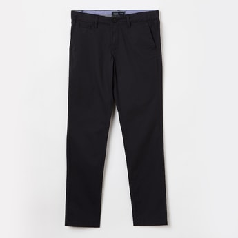 INDIAN TERRAIN Solid Slim Fit Trousers