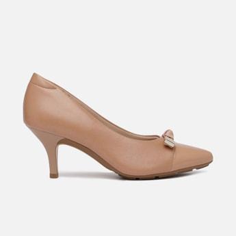 MODARE Women Solid Bow Detail Pencil Heel Pumps