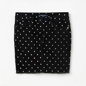ALLEN SOLLY Girls Printed Skirt
