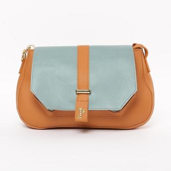 BAGGIT Colourblocked Flap-Closure Sling Bag