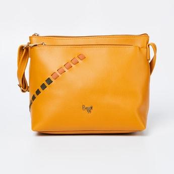 BAGGIT Textured Zip-Closure Sling Bag