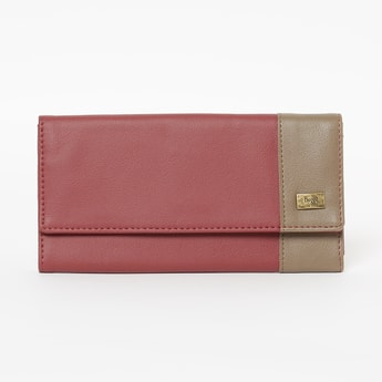 BAGGIT Colourblock Tri-Fold Wallet