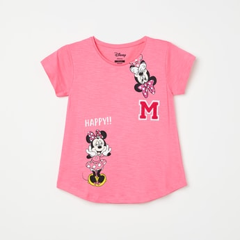 KIDSVILLE Mickey Mouse Print Round Neck T-shirt