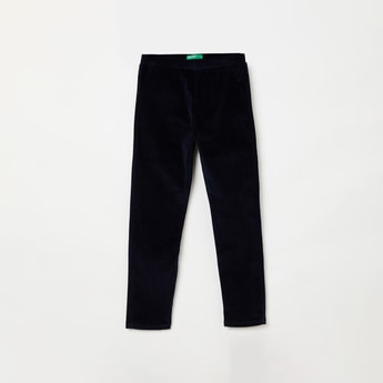 UNITED COLORS OF BENETTON Solid Velour Knit Leggings