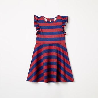 U.S. POLO ASSN. KIDS Striped Fit & Flare Dress